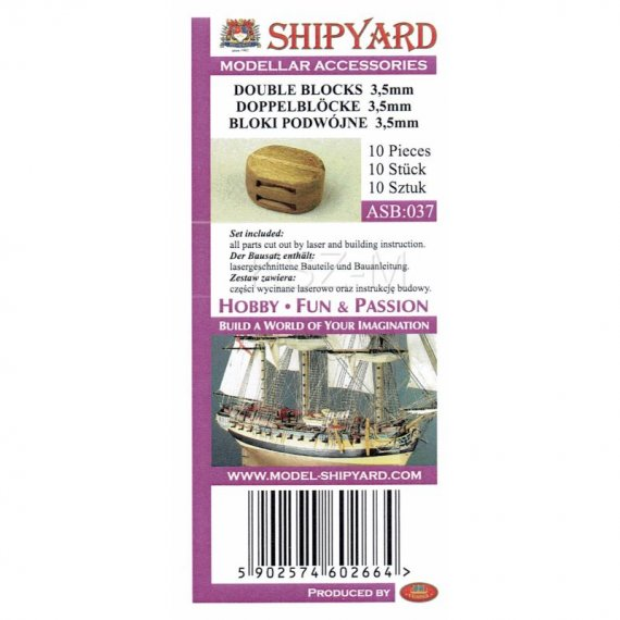 Bloki podwójne 3,5 mm (10 sztuk) - Shipyard