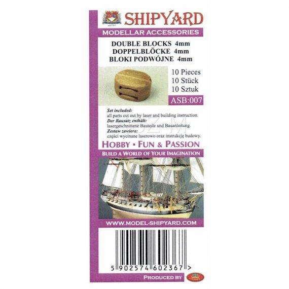 Bloki podwójne 4 mm (10 sztuk) - Shipyard
