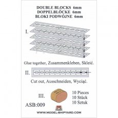 Bloki podwójne 6 mm (10 sztuk) - Shipyard