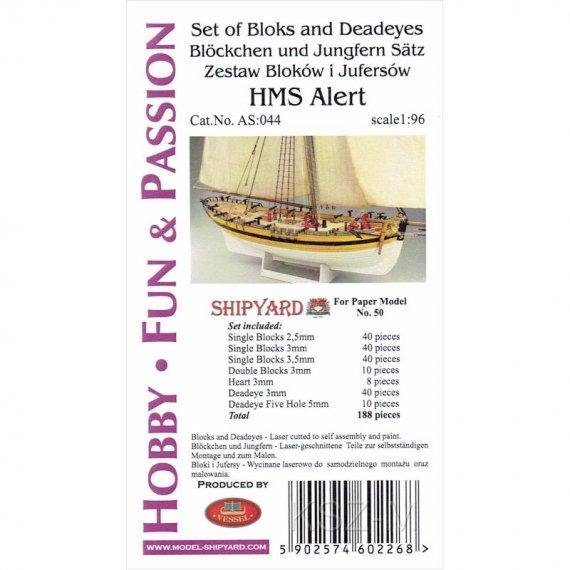 Komplet Bloków, Jufersów do HMS Alert - Shipyard 50