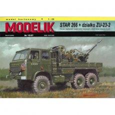 Modelik 15/07 - STAR 266 + DZIAŁKO P-LOT. ZU-23
