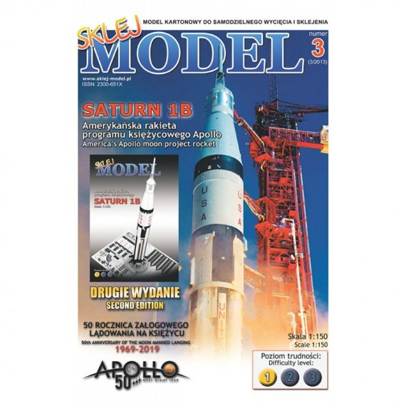 Amerykańska rakieta SATURN 1B - Sklej Model 3