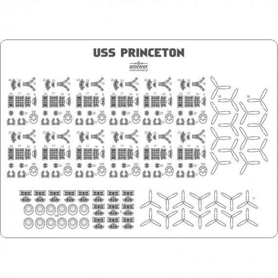USS Princeton - detale samolotów - Angraf 168