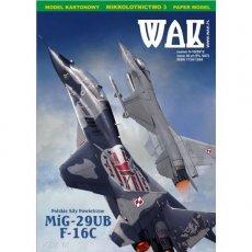 WAK 9-10/12 Samoloty MiG-29UB i F-16C