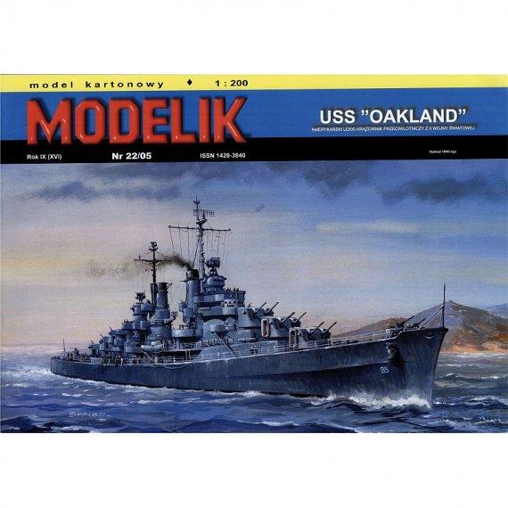 Krążownik USS OAKLAND - Modelik 22/05