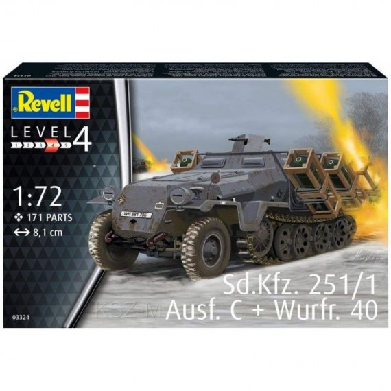 Sd.Kfz. 251/1 Ausf. C + Wurfr.40 - REVELL 03324
