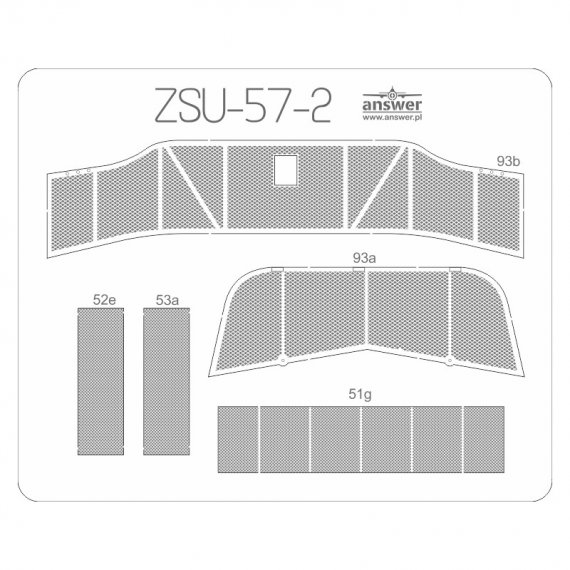 Siatki do ZSU-57-2 - Angraf 183