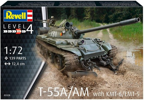 T-55A/AM with KMT-6/EMT-5 - REVELL 03328