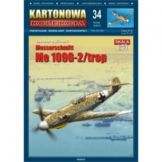 Samolot Me 109G-2/trop - Kartonowa Kolekcja 34