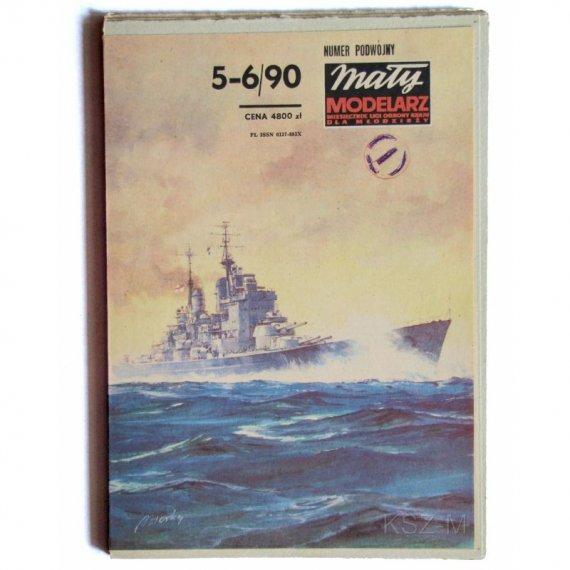 Pancernik Vanguard - Mały Modelarz 5-6/90