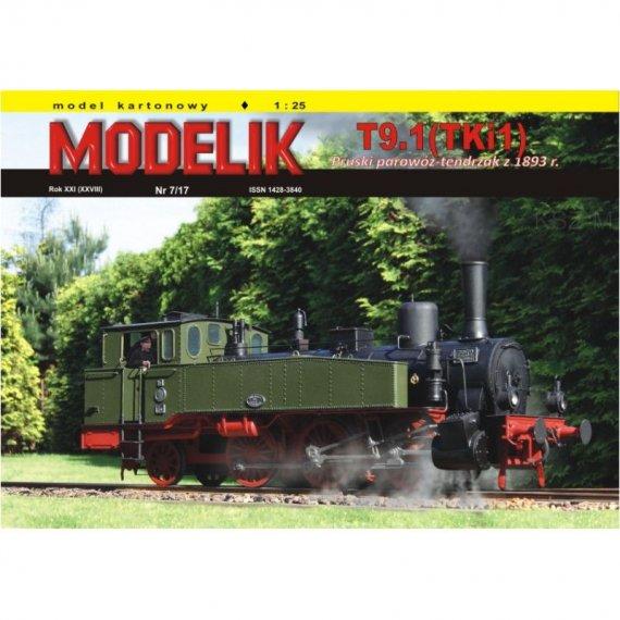Parowóz T9.1 (TKi1) - Modelik 7/17