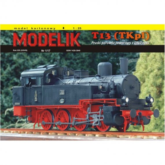Modelik 1/17 - Parowóz T13 (TKp1)