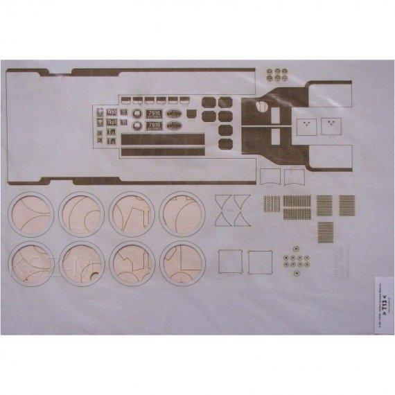 Szkielet, detale do parowozu T13 (TKp1) - Modelik 1/17