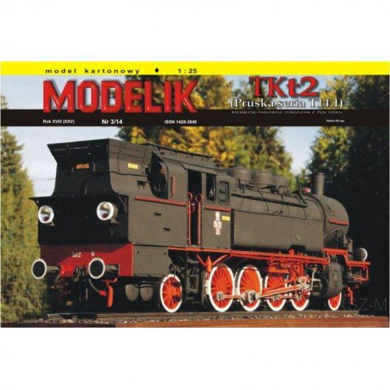 TKt2 niemiecki parowóz-tendrzak - Modelik 3/14