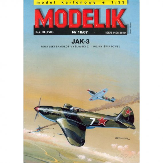 Myśliwiec Jak-3 - Modelik 18/07