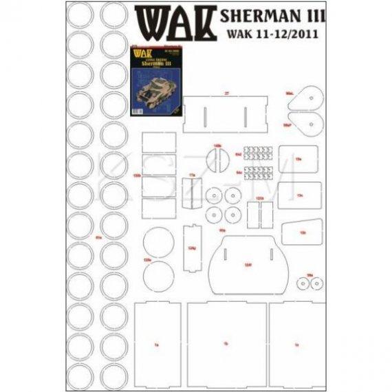 Laser do WAK 11-12/11 Sherman III (M4A2)