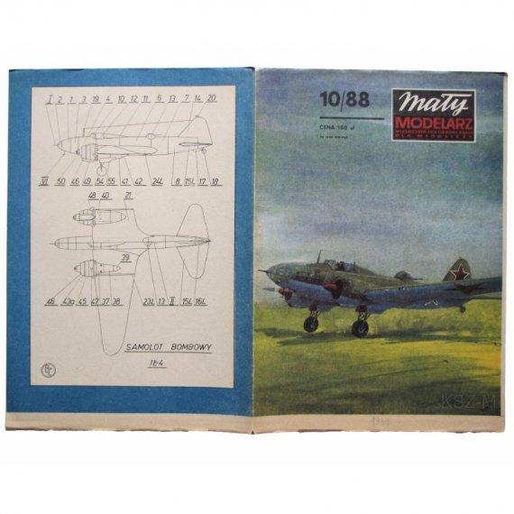 Mały Modelarz 10/88 -  IŁ-4 samolot bombowy
