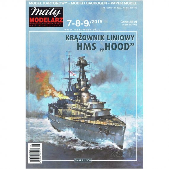 HMS HOOD - Mały Modelarz 7-8-9/2015