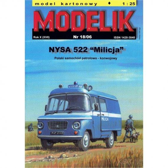 NYSA 522 MILICJA - Modelik 18/06