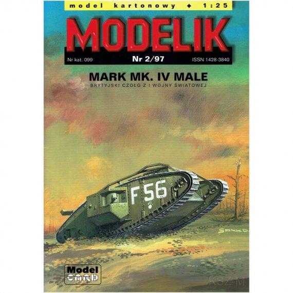 Czołg Mark Mk.IV Male - Modelik 2/97
