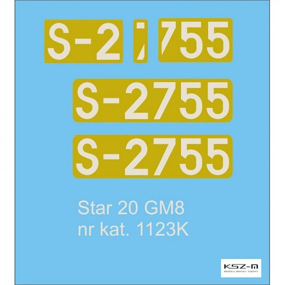 Kalkomania do STAR 20 GM8 - Modelik 23/11