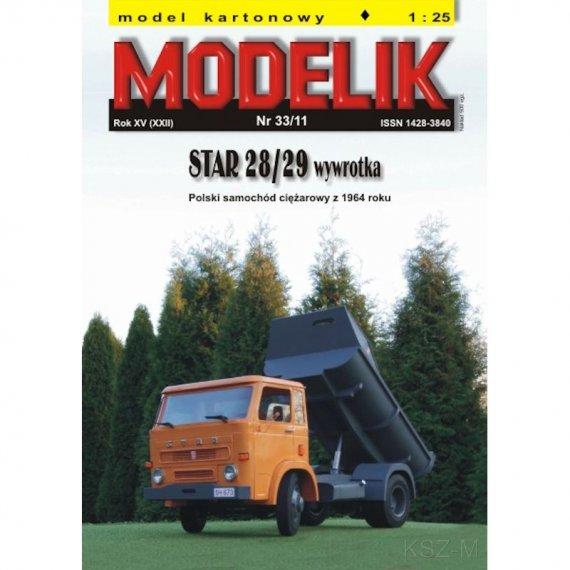 STAR 28/29 wywrotka - Modelik 33/11
