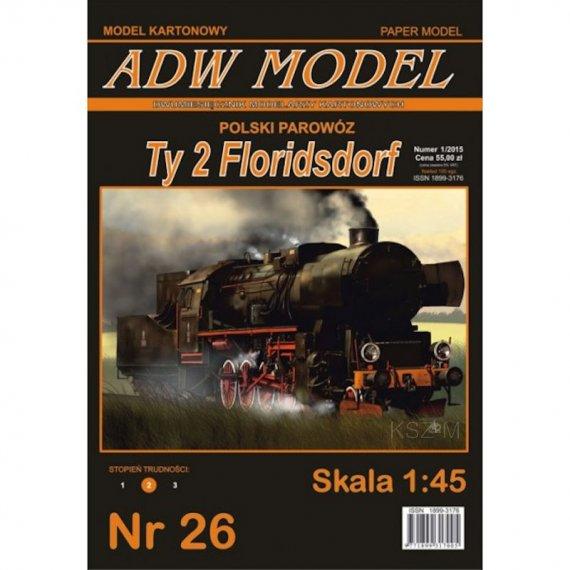 Parowóz Ty 2 Floridsdorf - ADW Model 26