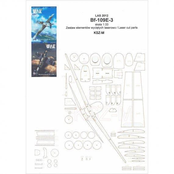 Szkielet do Messerschmitt Bf-109E-3 - WAK 12/20