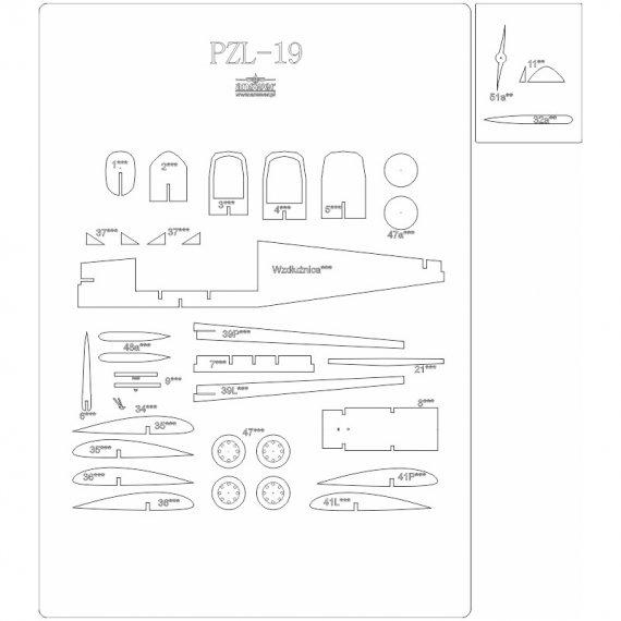Szkielet do PZL-19 z Answer 528
