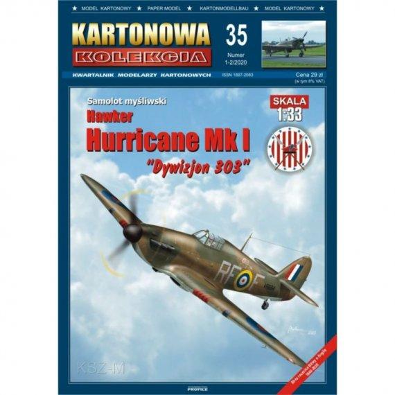 Hawker Hurricane Mk I - Kartonowa Kolekcja 35