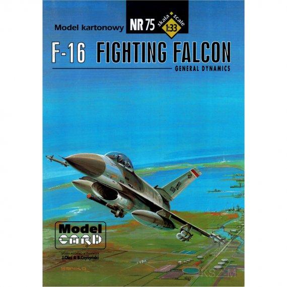 F-16 Falcon - Model Card 75