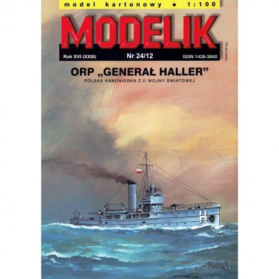 Kanonierka ORP GENERAŁ HALLER - Modelik 24/12