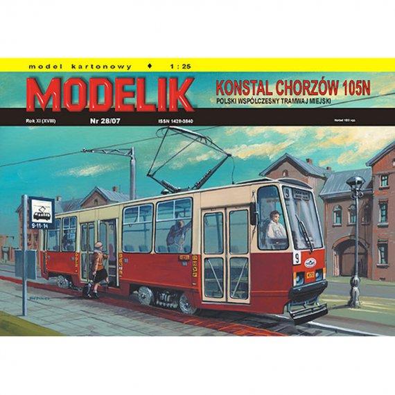Tramwaj 105N z 1973r. - Modelik 28/07